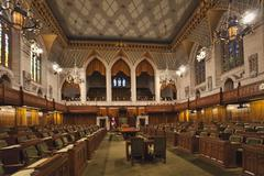 Interior view of the House of Commons, Ottawa, Canada Stock Photos