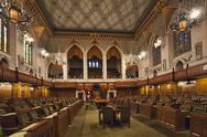Stock Photo of Interior view of the House of Commons, Ottawa, Canada