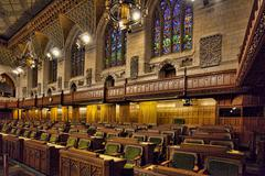 Interior view of the House of Commons, Ottawa, Canada - stock photo