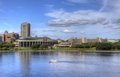 Stock Photo of The Museum of Civilization with the Ottawa River, Canada