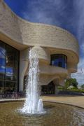 Fountain in front of Museum of Civilization, Ottawa, Canada Stock Photos