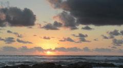Ocean sunrise Stock Footage