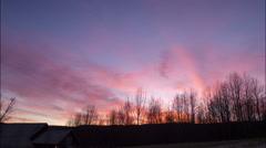 Autumn nightfall time lapse Stock Footage