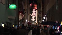 Weihnachtsmarkt - traditional, christmas market. Innsbruck, Austria. Stock Footage