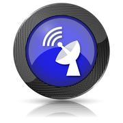 Wireless antenna icon Stock Illustration