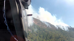 The California National Guard, Fights the Rim Fire Over Yosemite National Park Stock Footage