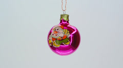 Pink glass christmas ornament Stock Footage