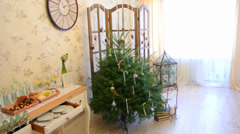 Decorated holiday table Stock Footage