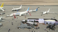 2013 Dubai Air Show Stock Footage