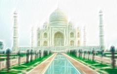 Taj mahal abstract Stock Illustration