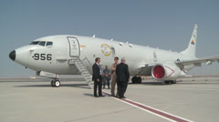 P-8A (Poseidon) at the 2013 Dubai Air Show Stock Footage