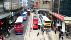 Pedestrian Crossing the Road - A Hong Kong Diorama Time Lapse. (1080p) Stock Footage
