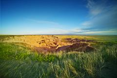 South Dakota prairies - stock photo