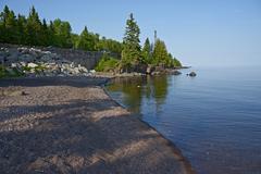 Lake Superior western shore - stock photo
