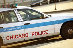 Police cruiser in chicago - stock photo