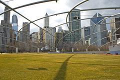 Chicago Millennium park USA - stock photo
