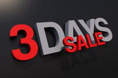 3 days sale promotion illustration - stock illustration