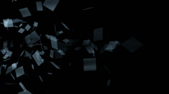 Flying squares Stock Footage