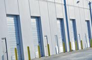 Warehouses gates closeup Stock Photos