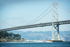 San Francisco - Oakland Bay Bridge Kaliforniassa Kuvituskuvat