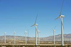 Alternative energy wind turbines in california, usa Stock Photos