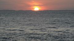 Sunset horizon Stock Footage