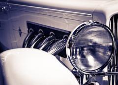 classic headlight - stock photo