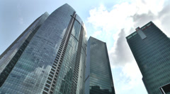 Singapore Financial Buildings Sunrays Stock Footage