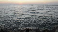 Stradbroke island sunset Stock Footage