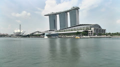 Singapore Marina Bay Sands Timelapse Stock Footage