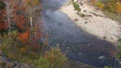 Margaree River, Cape Breton Island Nova Scotia Pan Stock Footage