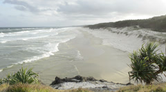 Windy beach Stock Footage