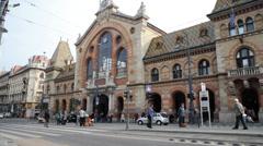 Budapest Market Hall Stock Footage
