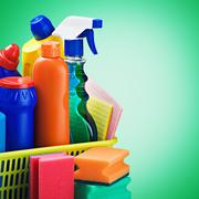 cleaners supplies and cleaning equipment - stock photo