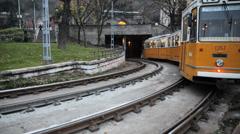 Budapest Tram Stock Footage