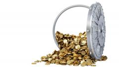 safe coins white - stock footage