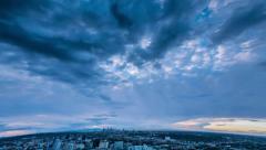 Sunrise over Los Angeles city Stock Footage