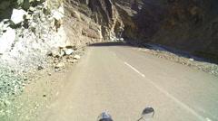 POV motion motorbike ride, nr Leh pass, Ladakh  Stock Footage
