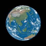 Southeast asia on blue earth Stock Illustration