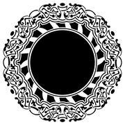 Black frame with ornamental border Stock Illustration