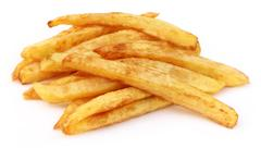 Stock Photo of french fry over white background