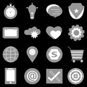 General icons on back background Stock Illustration