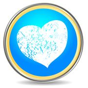 Grunge heart icon Stock Illustration