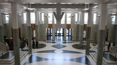Foyer parliament house australia Stock Footage