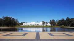 Old parliament house australia Stock Footage