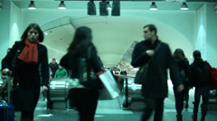 People walking at the Underground station in  Paris - stock footage
