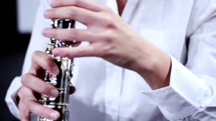 Oboe close up Stock Footage
