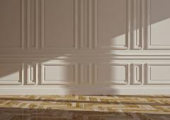 classic blank interior - stock illustration