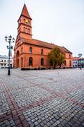 Traditional architecture in famous polish city, torun, poland. Stock Photos