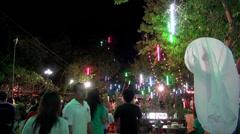 Loi (or Loy) Krathong - Petchaburi, Thailand 11th Nov 2013 Stock Footage